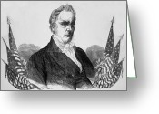 Democrats Greeting Cards - Presidnet of the United States - James Buchanan  Greeting Card by International  Images