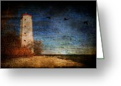 Canada Digital Art Greeting Cards - Presquile Lighthouse Greeting Card by Lois Bryan