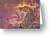 Painterly Greeting Cards - Pretty Bouquet - a04t4b Greeting Card by Variance Collections