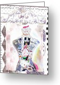 Chic Greeting Cards - Pretty in Pink Greeting Card by Anahi DeCanio