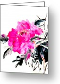 Cbp Greeting Cards - Pretty on Silk Greeting Card by Rayne Van Sing