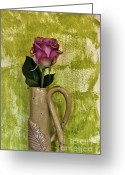 Lime Photo Greeting Cards - Pretty Pink Petals Greeting Card by Marsha Heiken