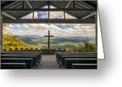 Serene Greeting Cards - Pretty Place Chapel - Blue Ridge Mountains SC Greeting Card by Dave Allen