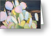 Cacti Greeting Cards - Prickly Pear Pals Greeting Card by Tina  Sander