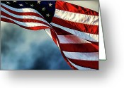Usa Flag Greeting Cards - Pride Greeting Card by Joetta West