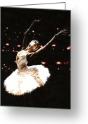 Ballet Dancer Greeting Cards - Prima Ballerina Greeting Card by Richard Young