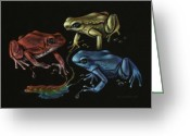Toad Greeting Cards - Primary Poison Greeting Card by Amy S Turner