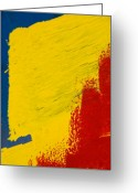 Abstract Greeting Cards - Primary Two Greeting Card by Skip Hunt