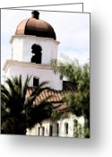 Tucson Arizona Digital Art Greeting Cards - Primera Iglesia Bautista Greeting Card by Linda Knorr Shafer