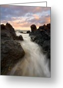Ebb Greeting Cards - Primordial tides Greeting Card by Mike  Dawson