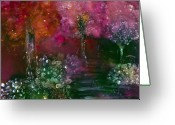 Love Your Tree Greeting Cards - Primrose Painting Greeting Card by Don  Wright