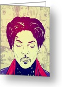 Girls Drawings Greeting Cards - Prince Greeting Card by Giuseppe Cristiano