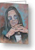 Icon  Pastels Greeting Cards - Prince Of Darkness Greeting Card by Sandra Valentini