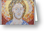 Iconography Drawings Greeting Cards - Prince of Peace Greeting Card by Maria Cristina Borrero