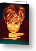 Drawing Pastels Greeting Cards - Princess Diana  Greeting Card by Anastasis  Anastasi