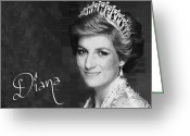 England Diana Greeting Cards - Princess Diana Greeting Card by Travshotz Agency