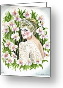 Mother Gift Painting Greeting Cards - Princess Dianna Greeting Card by Irina Sztukowski