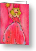 Little Girls98 Greeting Cards - Princess Lepore Greeting Card by Ricky Sencion