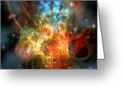 Portal Greeting Cards - Princess Nebula Greeting Card by Corey Ford