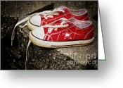 Converse Greeting Cards - Princess Shoes Greeting Card by Scott Pellegrin