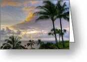 Greaves Greeting Cards - Princeville Sunset Greeting Card by John  Greaves