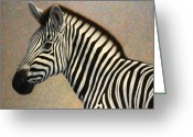 Black And White Animal Greeting Cards - Principled Greeting Card by James W Johnson