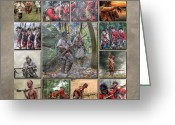 Uniform Greeting Cards - Print Collection French and Indian War Greeting Card by Randy Steele