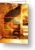 Wine Cellar Greeting Cards - Prisme Greeting Card by John Galbo
