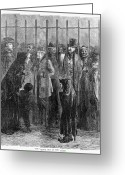 Intoxicated Greeting Cards - Prison: The Tombs, 1871 Greeting Card by Granger