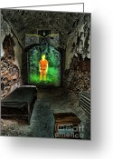 Philly Greeting Cards - Prisoner of the Soul Greeting Card by Andrew Paranavitana