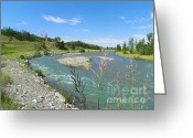 Mountains Mixed Media Greeting Cards - Pristine Beauty - Glacier National Park Greeting Card by Photography Moments - Sandi