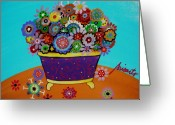 Cartera Greeting Cards - Pristine Flowers Greeting Card by Pristine Cartera Turkus