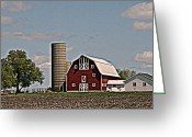 Kkphoto1 Greeting Cards - Pristine Wisconsin Farm Greeting Card by Kay Novy