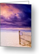 Cape Cod Mass Photo Greeting Cards - Private Beach Cape Cod Greeting Card by Matt Suess