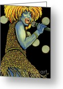 Nannette Harris Greeting Cards - private Dancer Greeting Card by Nannette Harris