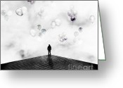 Emotion Art Greeting Cards - Private Party Greeting Card by Photodream Art