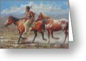Buckskin Horse Greeting Cards - Prize Pony Greeting Card by Harvie Brown