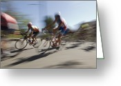 Bike Riding Greeting Cards - Professional Bike Riders Greeting Card by Rich Reid