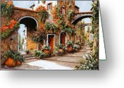 Sunny Painting Greeting Cards - Profumi Di Paese Greeting Card by Guido Borelli