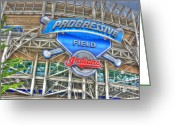 American League Greeting Cards - Progressive Field Greeting Card by David Bearden