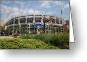 Homeplate Greeting Cards - Progressive Field Greeting Card by Robert Harmon