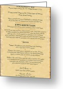 Bar Decor Greeting Cards - Prohibition Repeal Greeting Card by B Easton