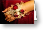 Corsage Greeting Cards - Prom Corsage Greeting Card by Karen M Scovill