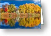 Colorado Photographers Greeting Cards - Prospect Lake Double Greeting Card by Paul Gana