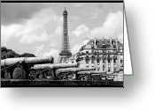Canons Greeting Cards - Protecting Paris Greeting Card by Don Wolf