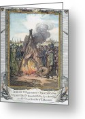 Heretic Greeting Cards - Protestant Martyrs, 1563 Greeting Card by Granger