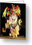 Native American Indians Greeting Cards - Proud Dancer Greeting Card by Joy Tudor