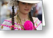 Wear Greeting Cards - Proud Panama Lady  Greeting Card by Heiko Koehrer-Wagner