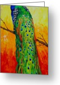 Wildlife Sculpture Greeting Cards - Proud To Be Greeting Card by Nedra Russ