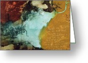 Irish Mixed Media Greeting Cards - Proverbs II Greeting Card by Michel  Keck